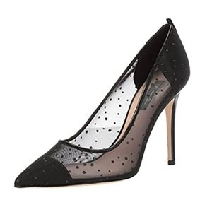 NIB SJP Glass Mesh Glitter Pointed Toe Stiletto